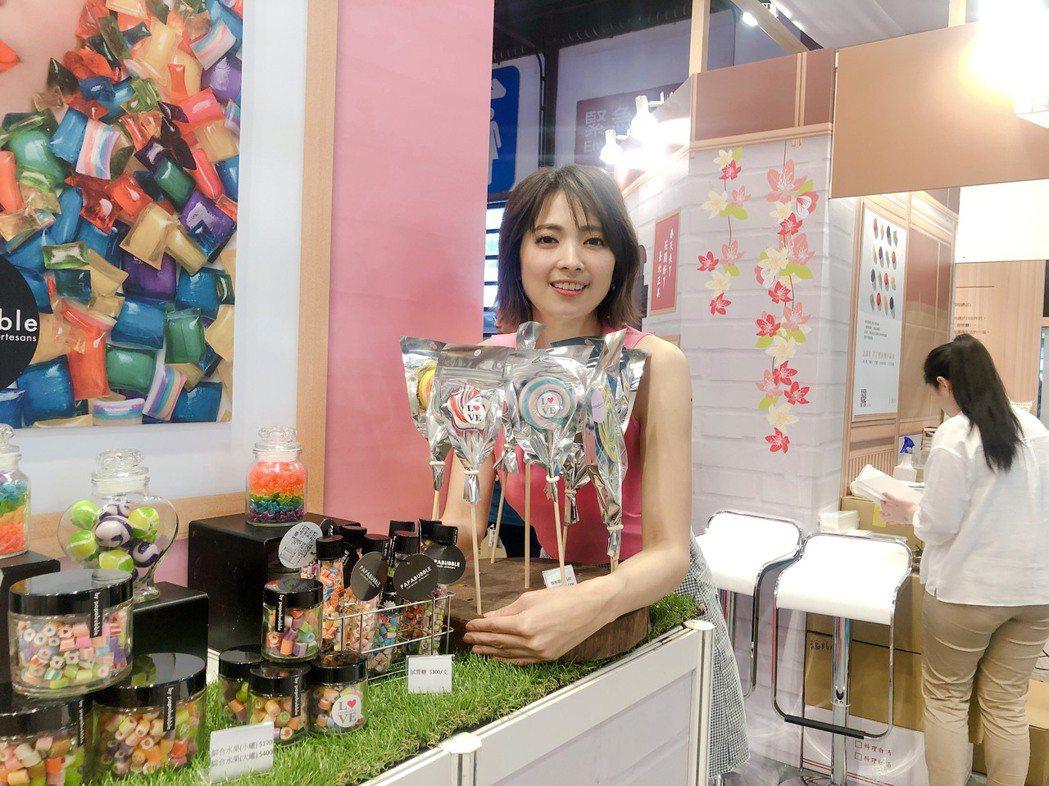 國民女神阿喜出席台北市春季旅遊展活動。圖/天晴娛樂提供