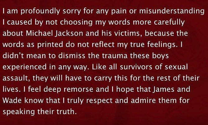 芭芭拉史翠珊為自己的失言道歉。 圖/擷自芭芭拉史翠珊IG