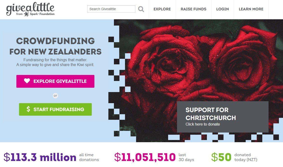 紐西蘭槍案造成慘重傷亡,截至今天紐西蘭的援助基金網站GiveaLittle.co...