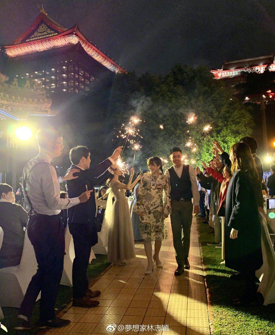 林志穎弟弟婚禮浪漫。 圖/擷自林志穎微博