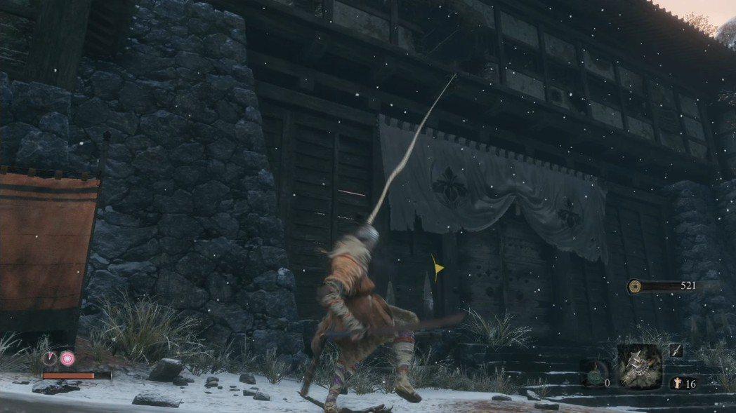 在遊戲中必定常常用到的勾索,可以連續使用讓自己像蜘蛛人一般快速地飛來飛去,打Bo...