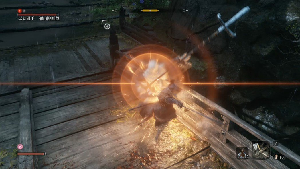 大部分時間你都得拿刀跟敵人正面對峙,這時就得小心應戰了。