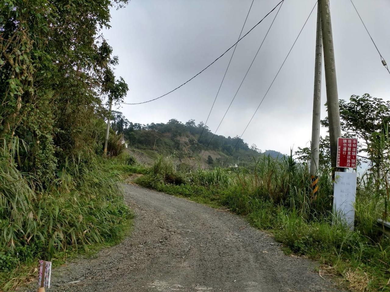 藤枝聯外道路18K處,請遊客步行入園。 圖/屏東林區管理處提供