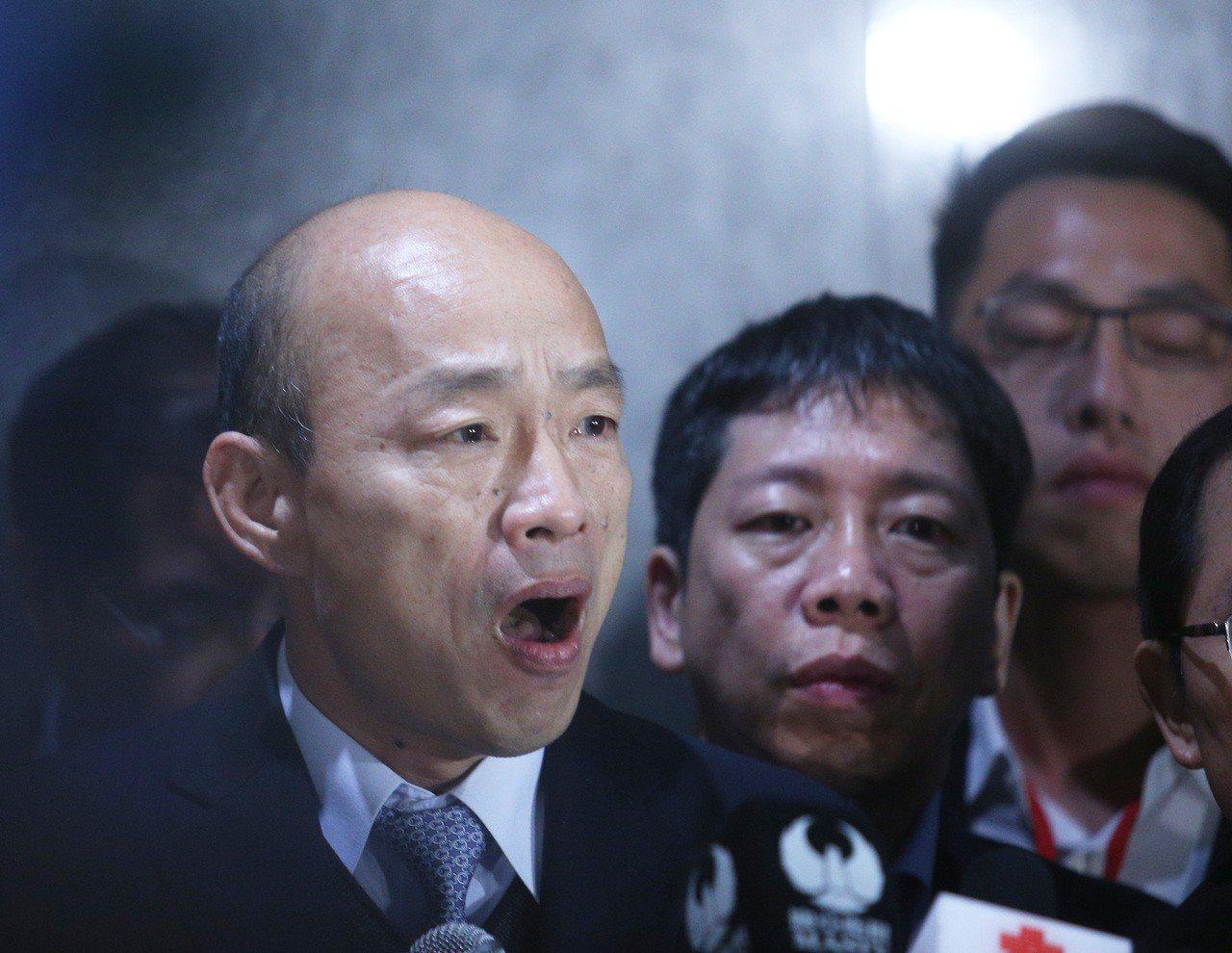 韓國瑜抵達深圳受到熱烈歡迎。 聯合報系資料照/記者劉學聖攝影