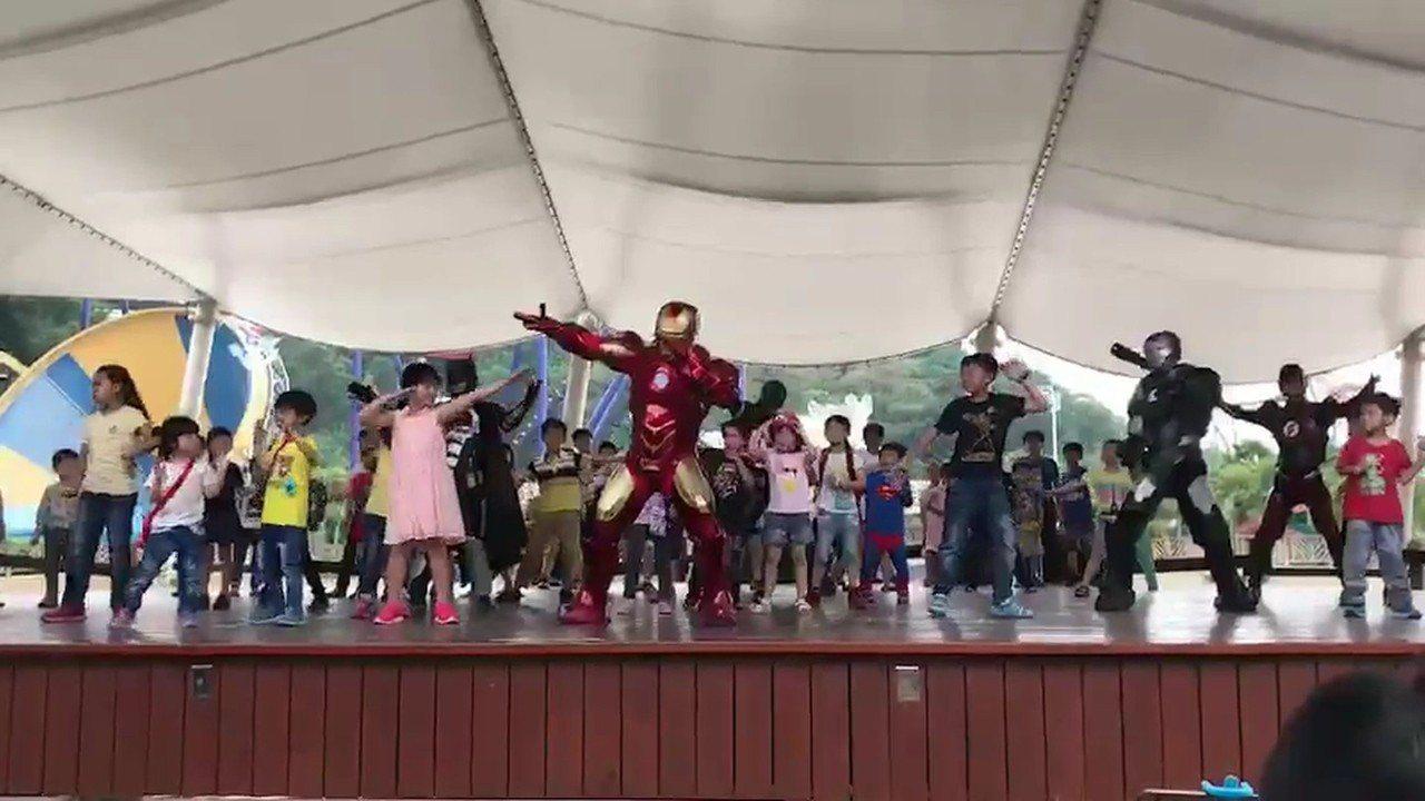 連假期間還有鋼鐵人、死侍、黑豹等的電影超級英雄同樂會。圖/劍湖山提供