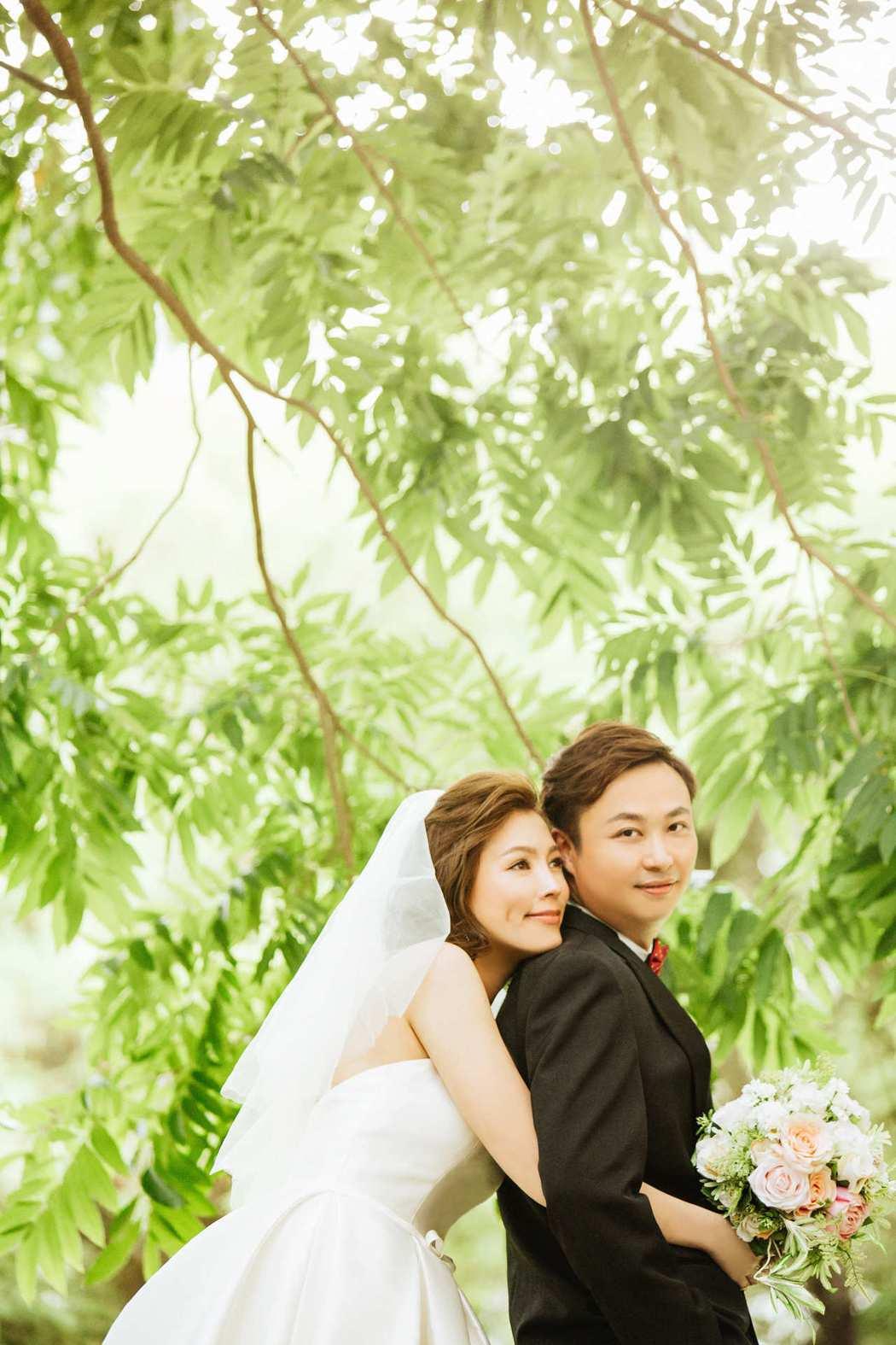 葉映彤公開幸福婚紗照。圖/林莉提供