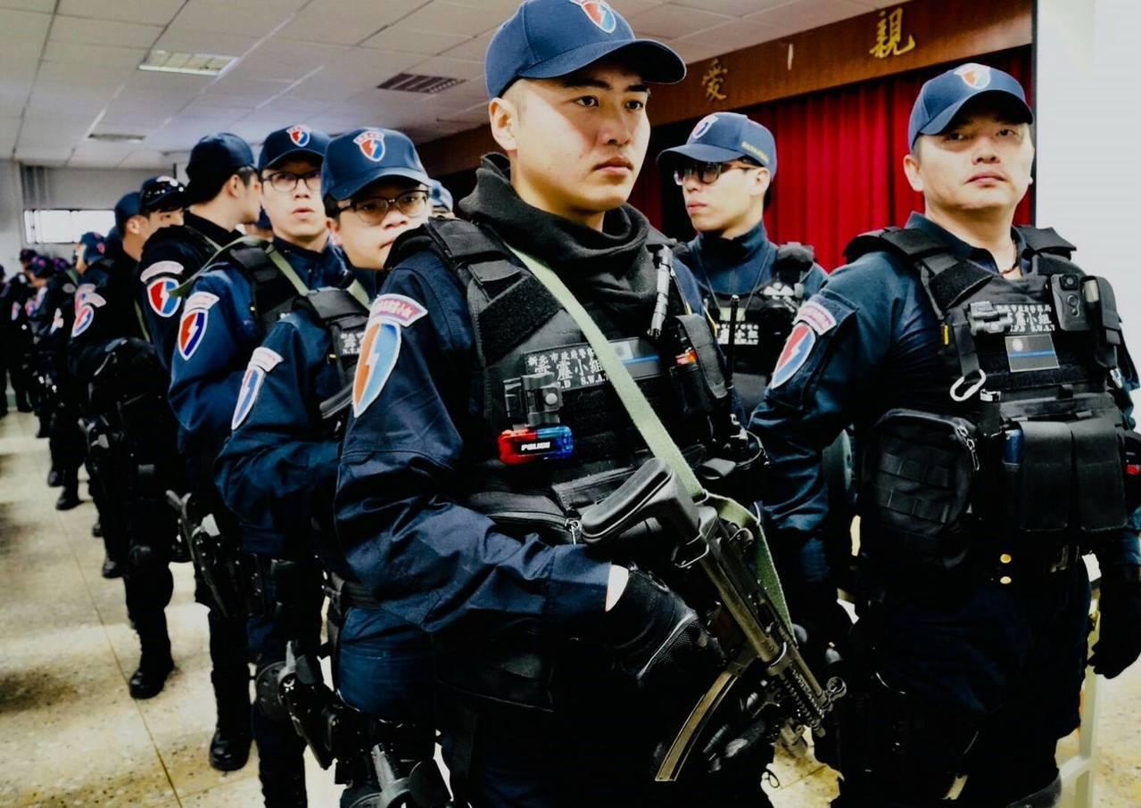 警方動員400警力維護秩序,勤務前交辦重點任務。圖/警方提供