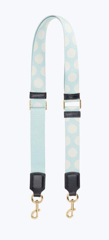 白圓點天藍色包包背帶(窄版)3,990元。圖/Marc Jacobs提供