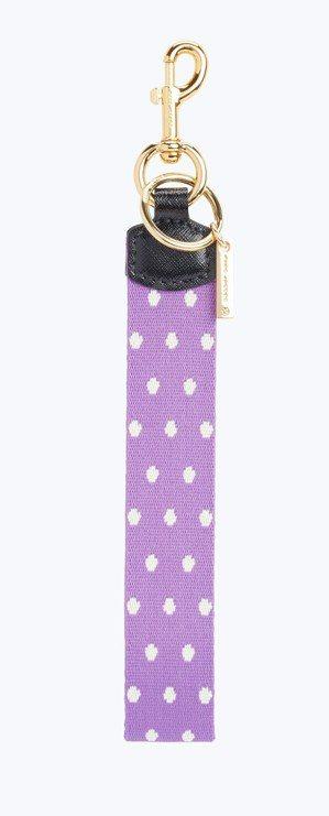 小白圓點薰衣草紫包包提帶,2,590元。圖/Marc Jacobs提供