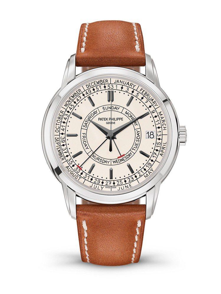 百達翡麗Calatrava編號5212A-001週曆腕表,40毫米精鋼表殼、26...