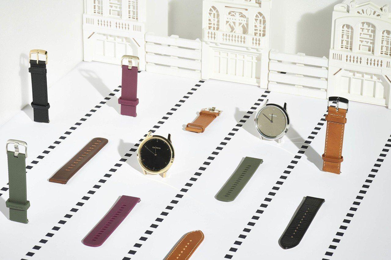 Garmin vivomove HR搭配近30款快拆式表帶,瞬間轉換風格盡情展現...