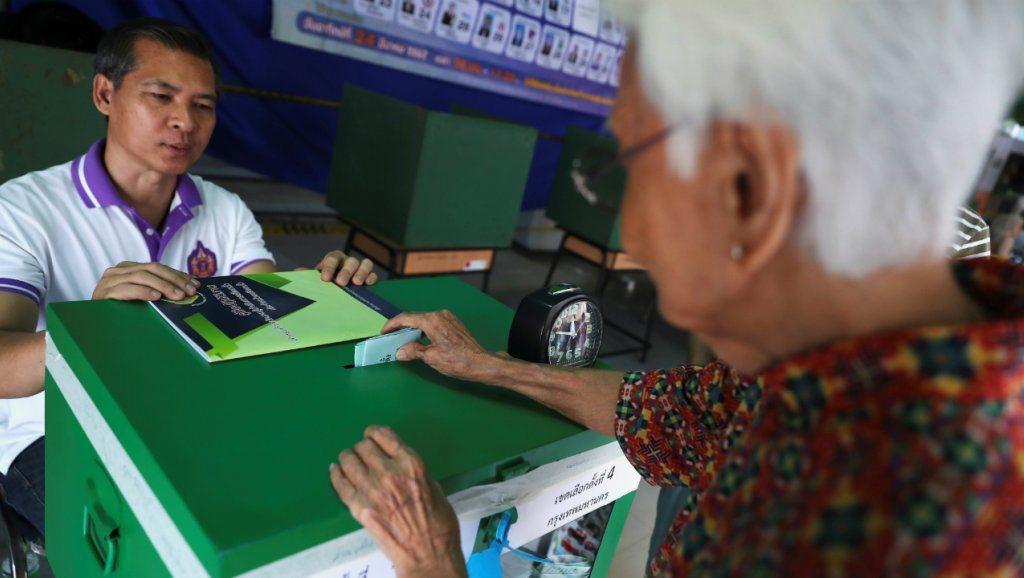 泰國今舉行政變後首次民主選舉。法新社