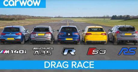 影/來場刺激的鋼砲大亂鬥吧 Focus RS/AMG A35/M140i/Golf R/Audi S3 !