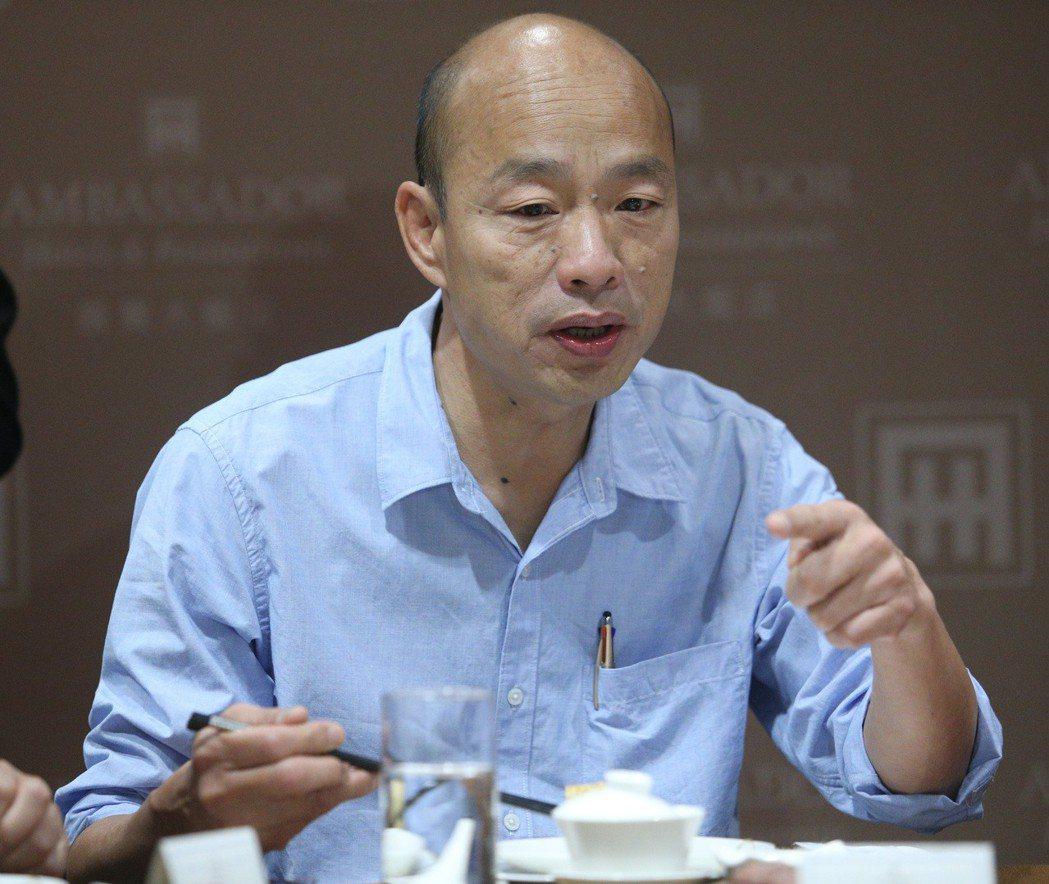 高雄市長韓國瑜被譏為「酒神」,政敵以他愛喝酒來作文章。圖/聯合報系資料照片