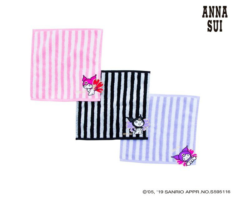 ANNA SUI X Kuromi直條方巾,650元(單件)。圖/滿心提供