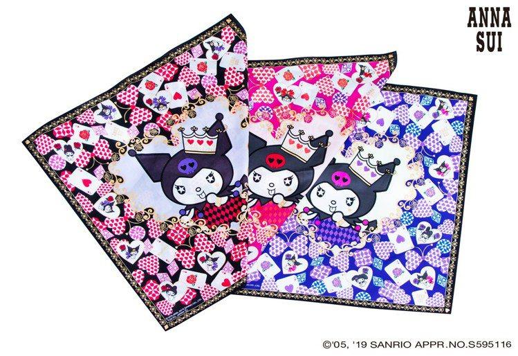 ANNA SUI X Kuromi手帕,780元(單件)。圖/滿心提供