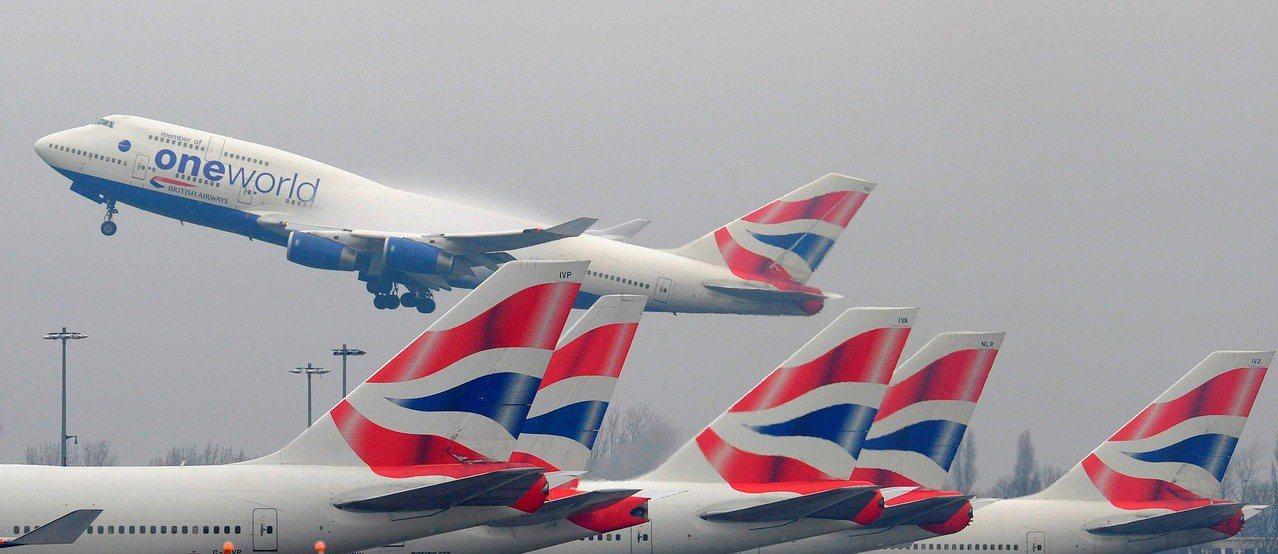 一架英航班機從倫敦起飛。圖非當事班機。路透