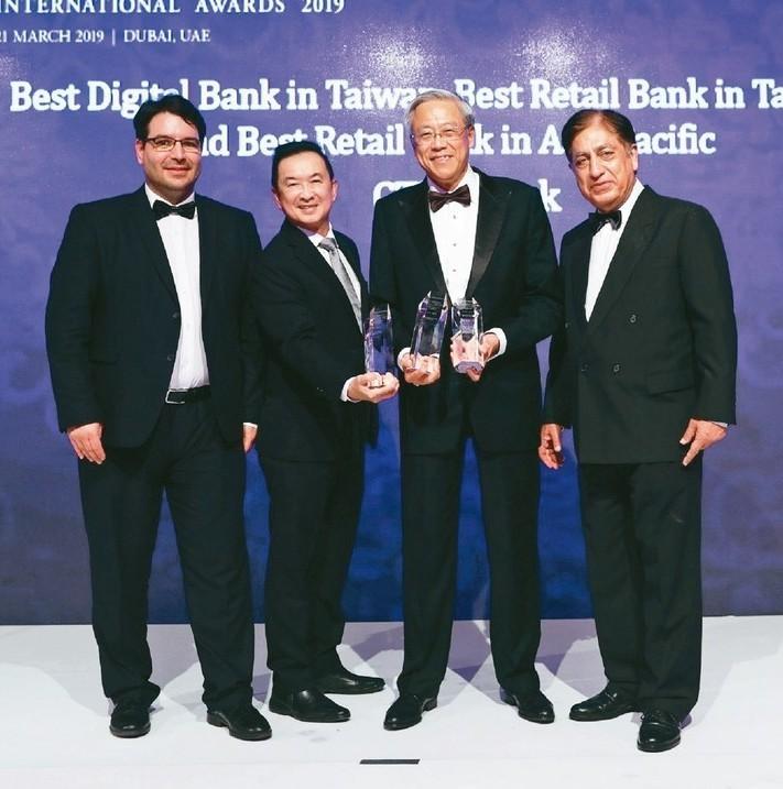 中國信託銀行獲亞洲銀行家雜誌頒發「亞洲最佳個人金融銀行」大獎。 圖/中國信託銀行...