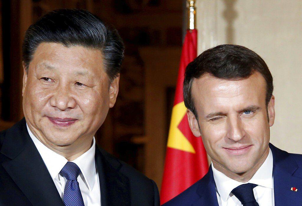 馬克宏稱,向習近平表達了對中國人權問題的關注,並討論了「個別個案」,形容兩人就人...