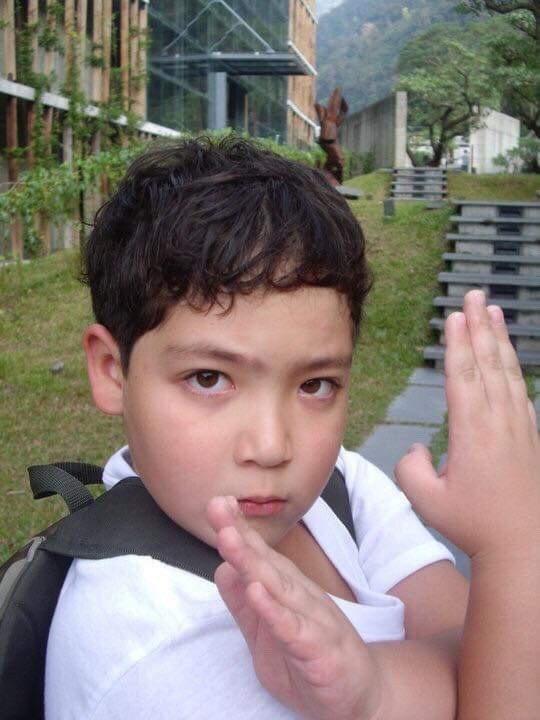 黃士杰小時候是胖小子。圖/達騰娛樂提供