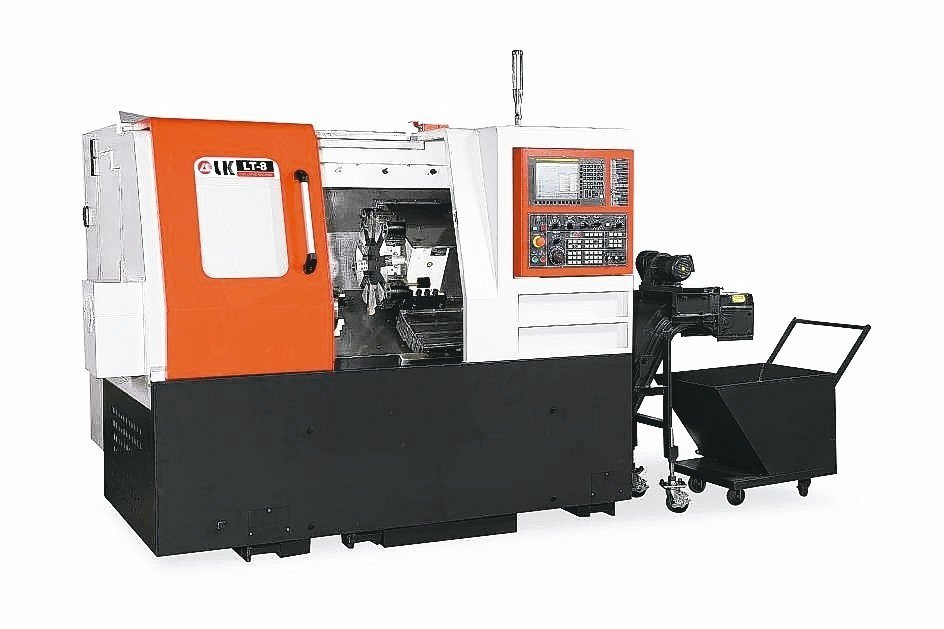 力勁機械所發表的LT-8電腦數控車床。 業者/提供