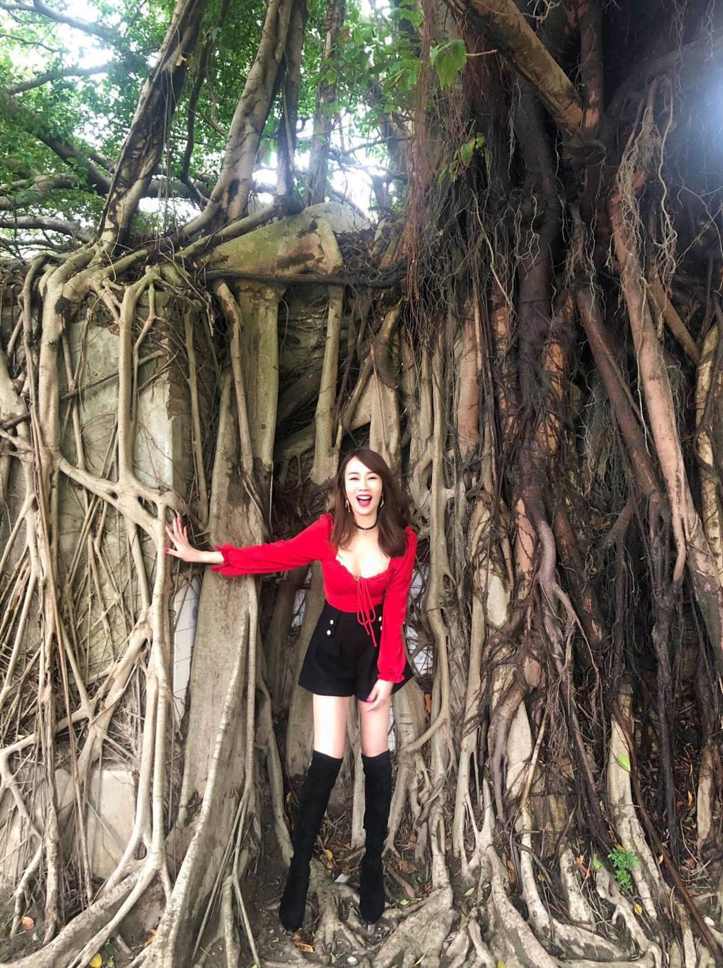 林佩瑤日前到台南旅遊。 圖/擷自林佩瑤臉書