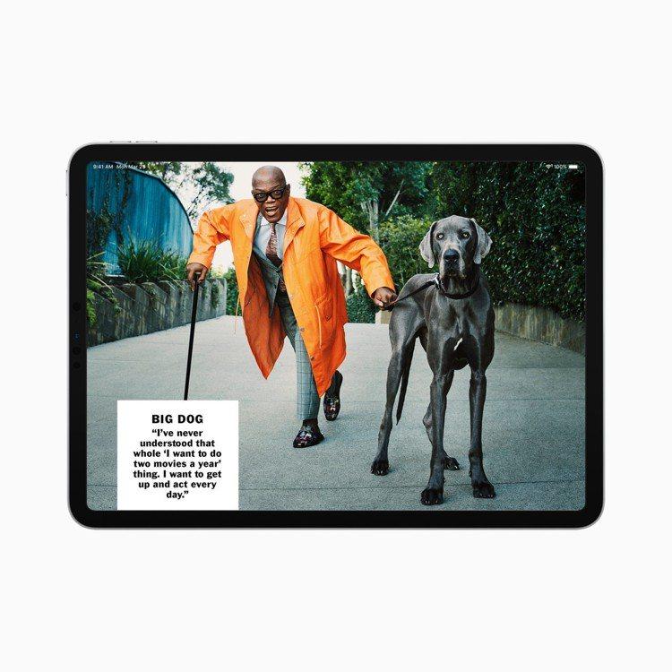 Apple News+可更完美呈現高質感的刊物內容。圖/蘋果提供