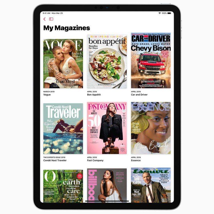 Apple News+增加了超過300本刊物,滿足各種不同喜好讀者。圖/蘋果提供