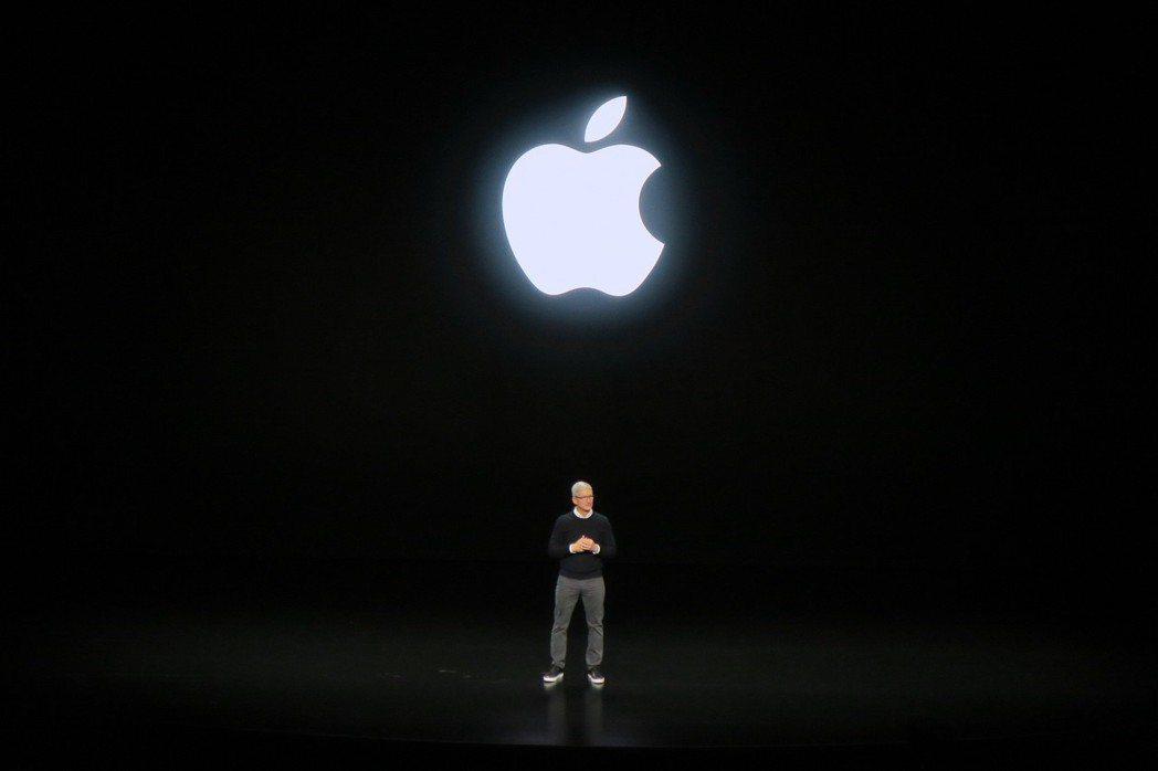 提姆庫克發布蘋果最新的服務。記者蘇詠智/攝影