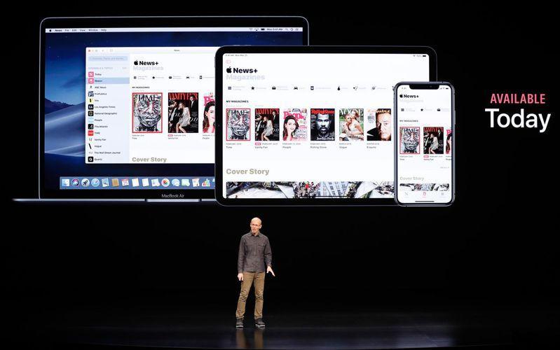 蘋果服務Apple News+。 路透