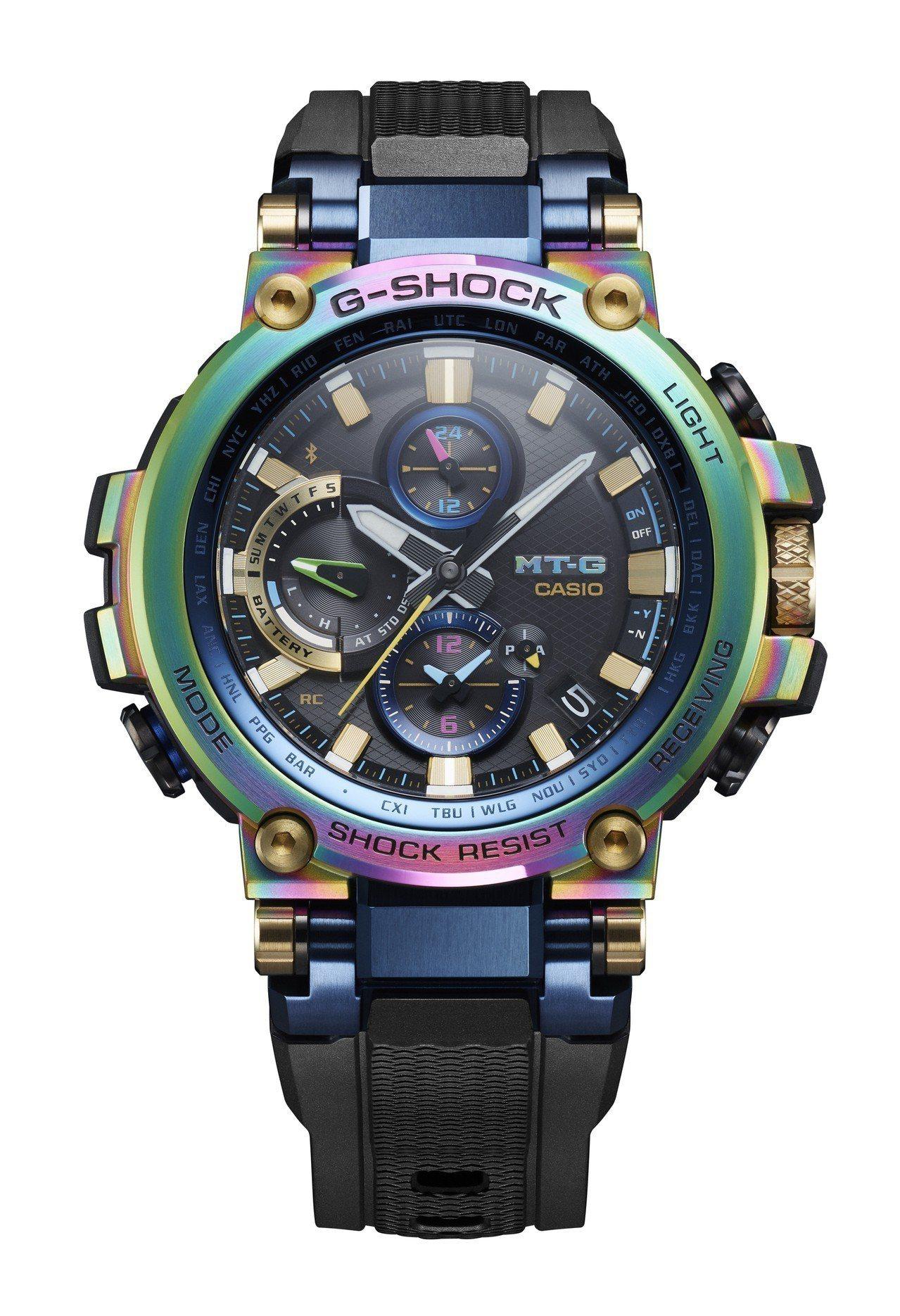 G-Shock MTG-B1000RB腕表,不鏽鋼表圈,約32,000元。圖/C...