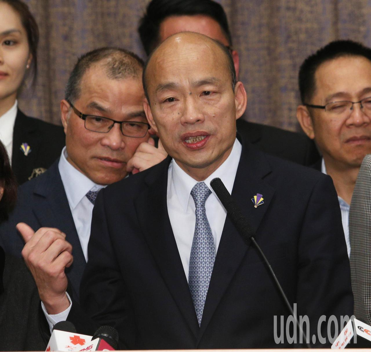 高雄市長韓國瑜今天下午將見廈門巿長莊稼漢。本報資料照片