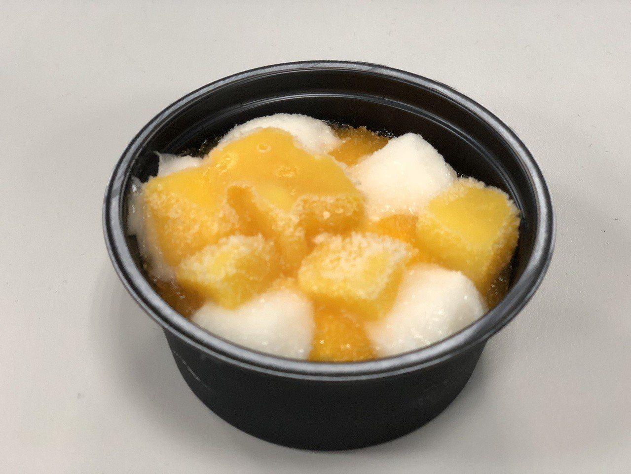 井村屋「芒果麻糬冰淇淋」光看就很誘人。圖/讀者提供
