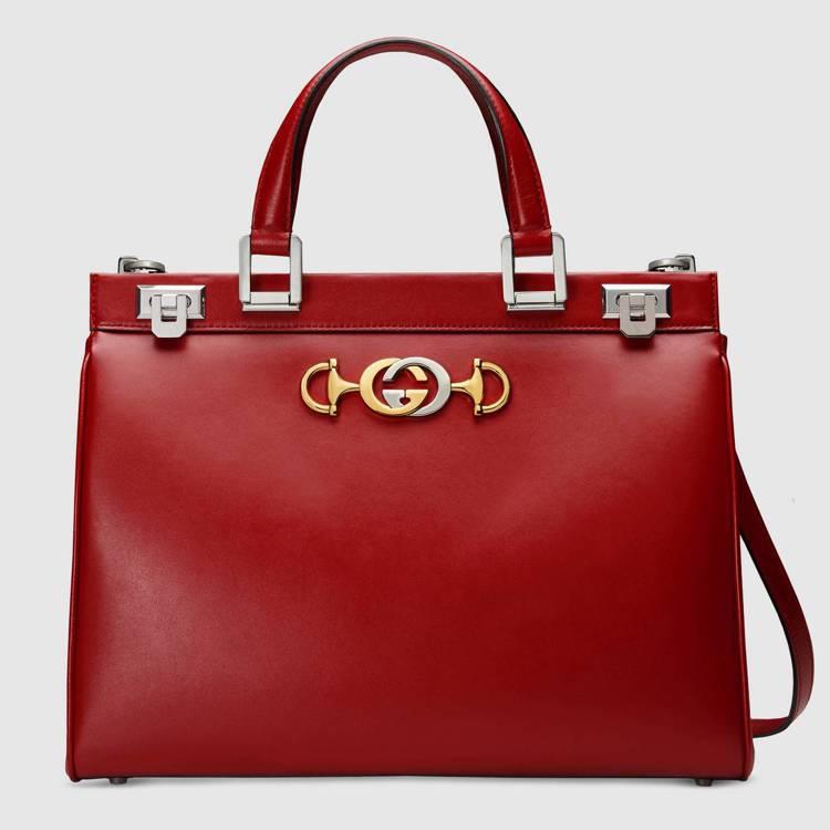 Gucci Zumi中型紅色手提包,11萬9,900元。圖/Gucci提供