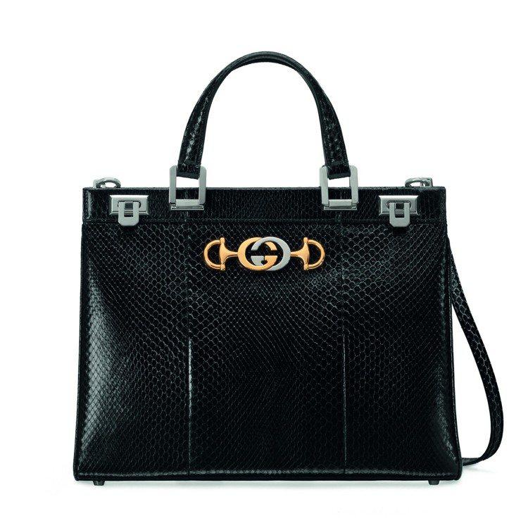 Gucci Zumi蛇皮手提包,18萬4,500元。圖/Gucci提供