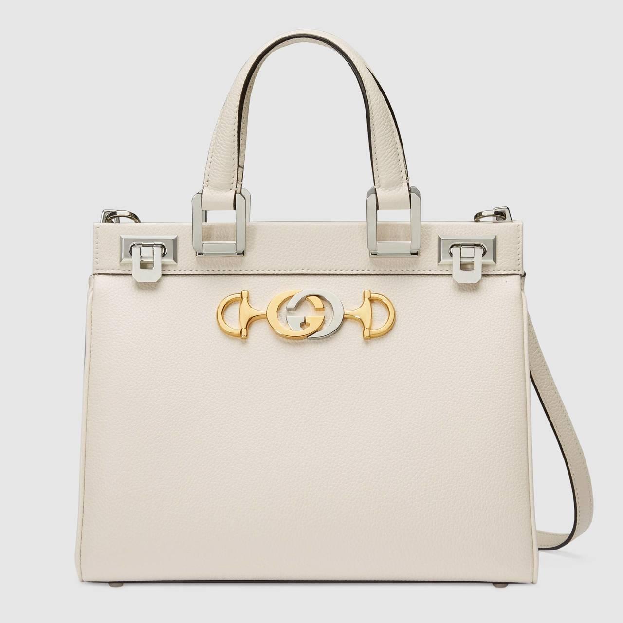 Gucci Zumi小型白色手提包,99,900元。圖/Gucci提供