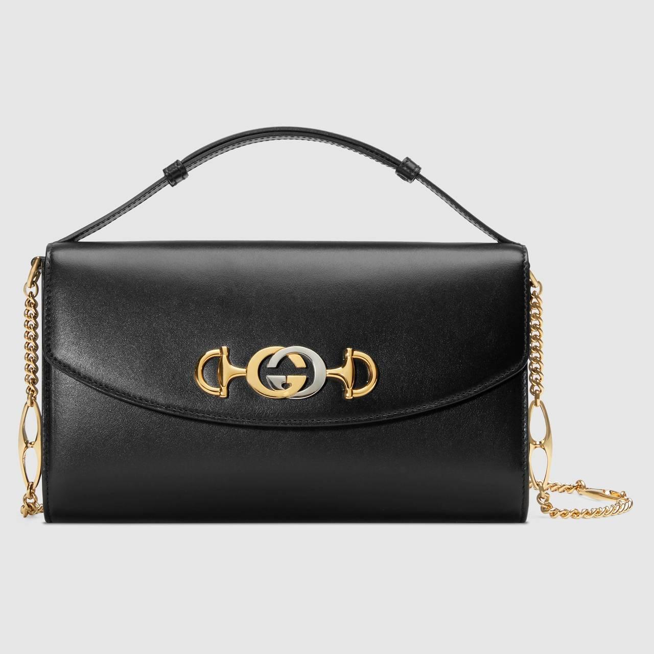 Gucci Zumi黑色迷你肩背包,82,300元。圖/Gucci提供