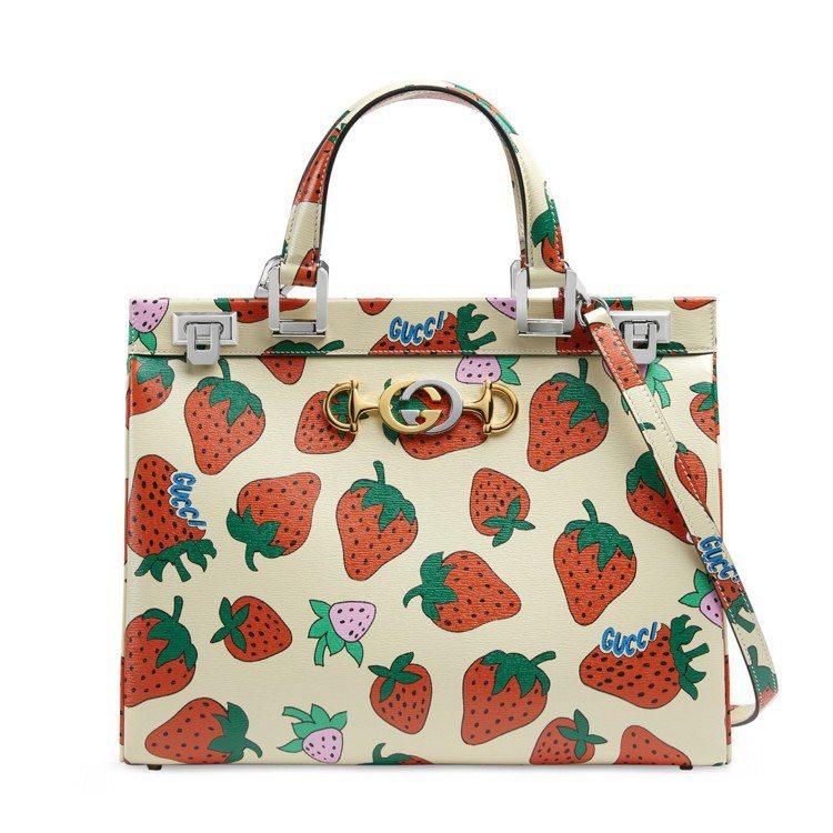 Gucci Zumi草莓印花手提包,價格店洽