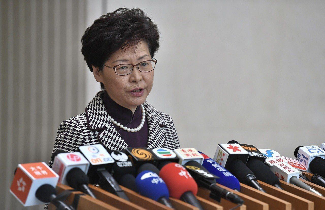 香港特區行政長官林鄭月娥。(香港中通社圖片)