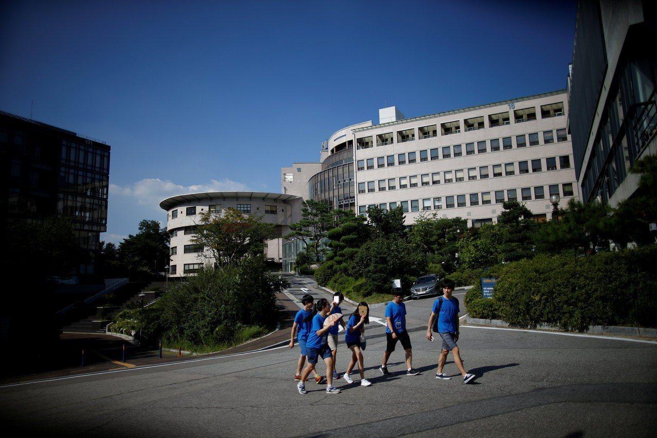首爾大學是南韓頂尖大學。(路透)