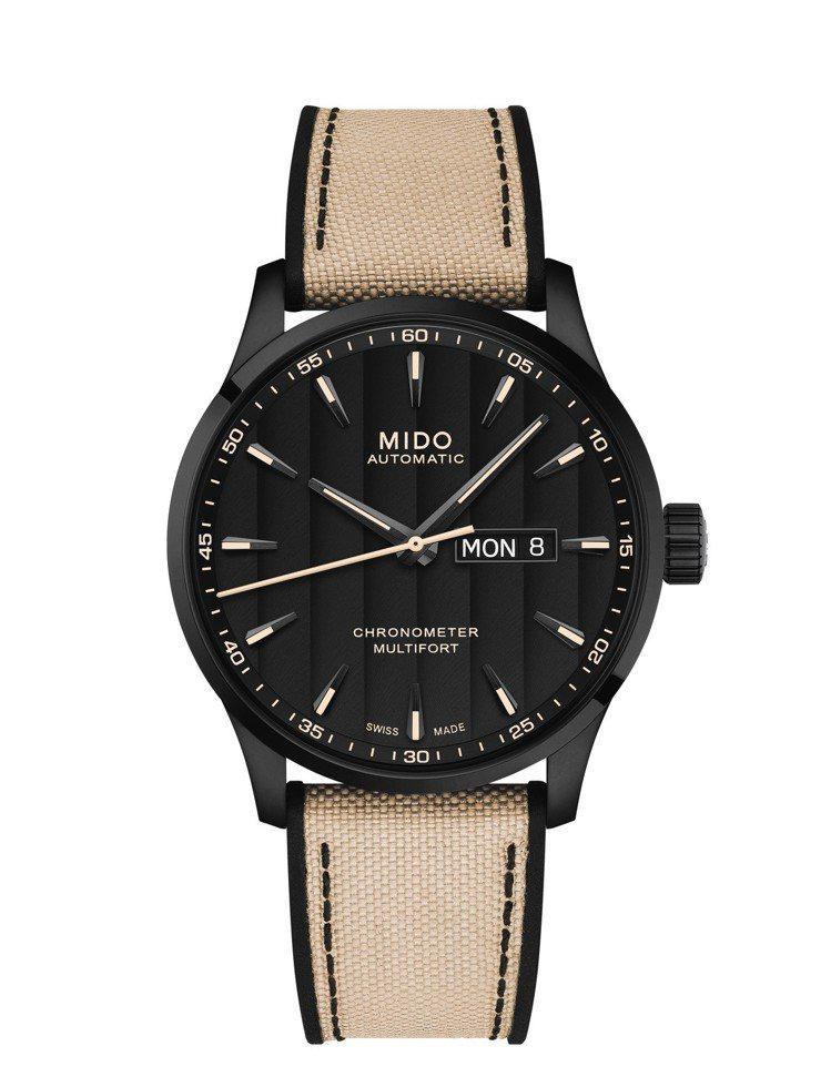 美度Multifort Chronometer One先鋒系列天文台認證矽游絲腕...