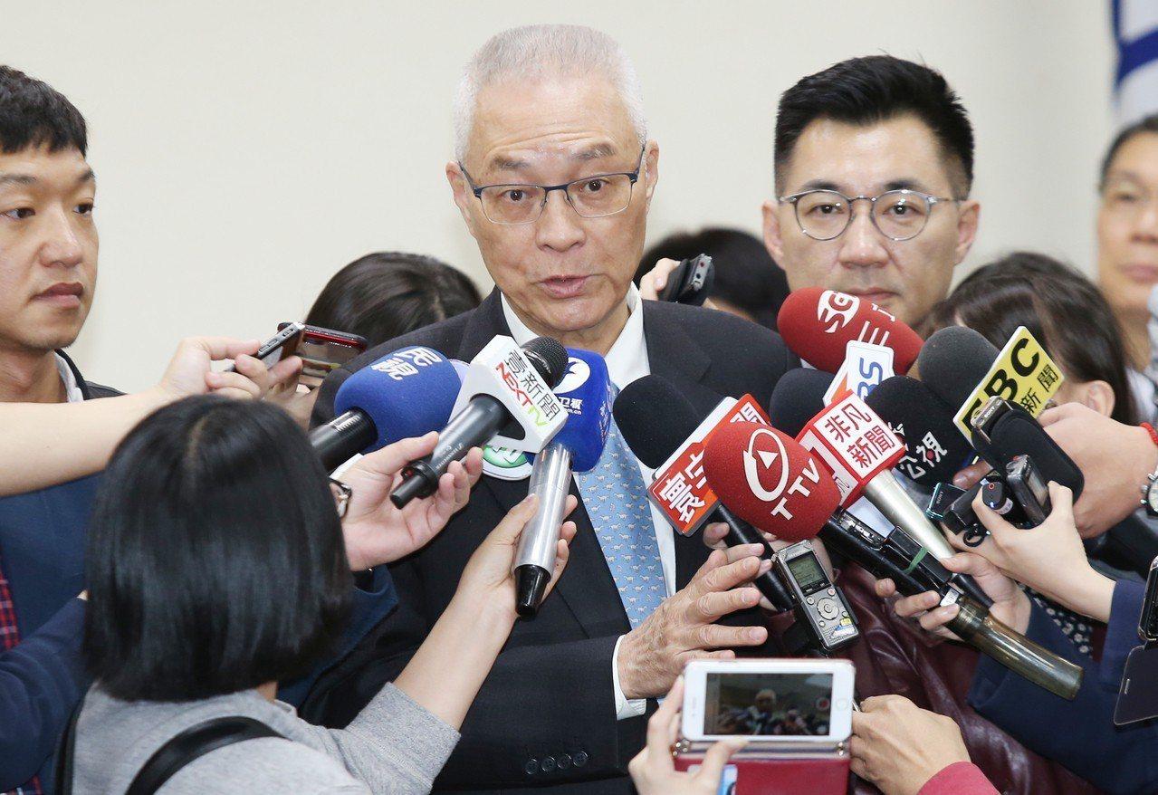 國民黨主席吳敦義。 記者曾學仁/攝影