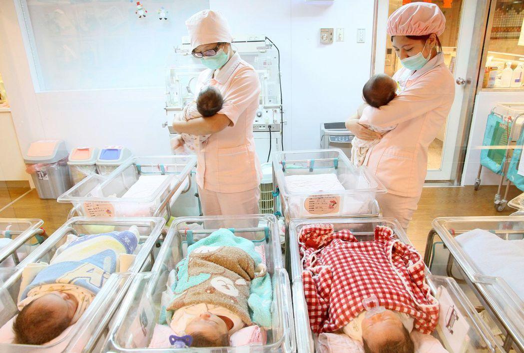 台灣新生兒人數下降。圖╱聯合報系資料照片