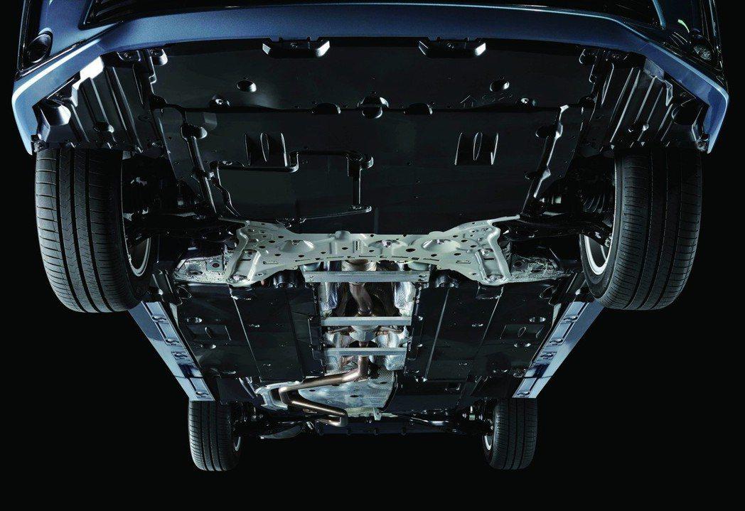 底盤空力套件+底盤鋁合金剛性強化支架。 圖/和泰汽車提供