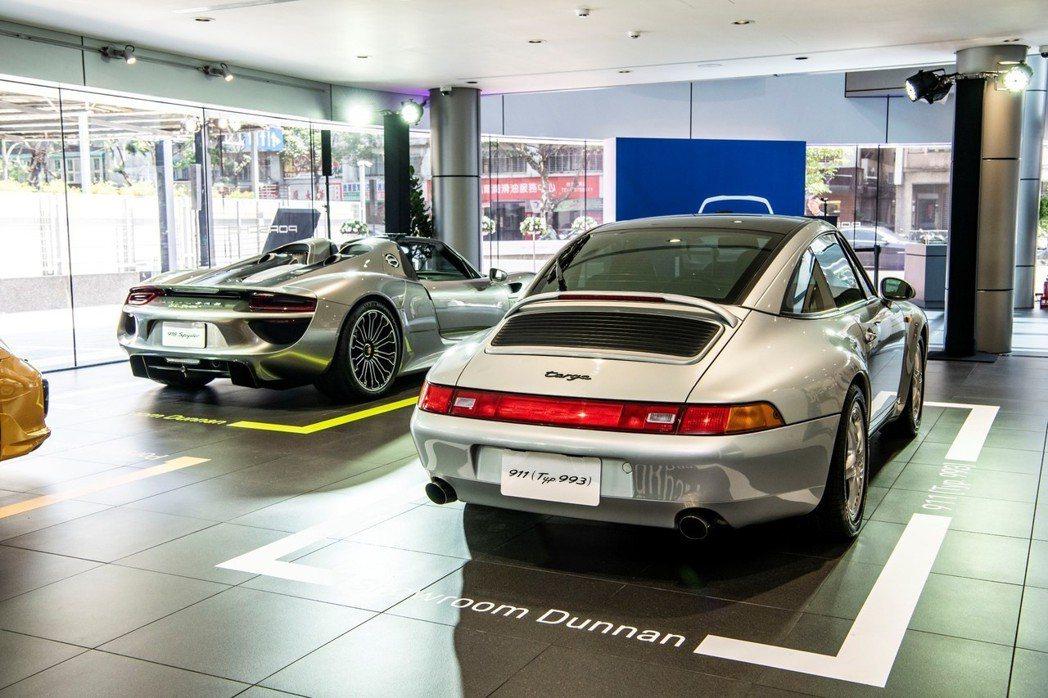 全新「保時捷 台北 敦南展示中心」寬敞舒適的展間內部共可展示10部Porsche...