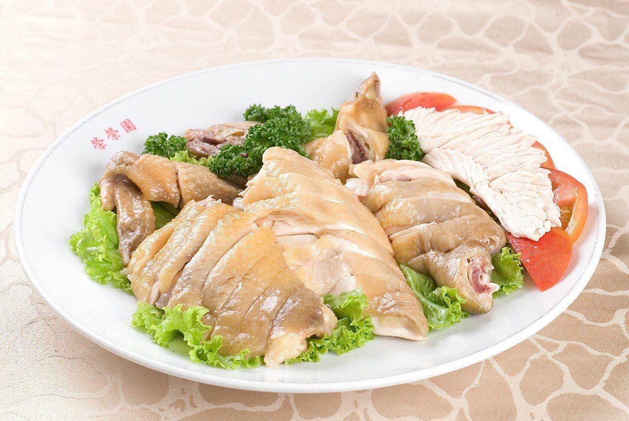 台北市榮榮園餐廳白斬土雞。記者徐世經/攝影