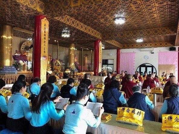 祈福法會現場莊嚴。 國際藏傳佛教研究會/提供