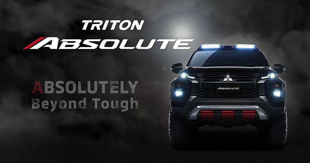 三菱Triton Absolute概念皮卡車,以武裝外表以及加高的懸吊,體現三菱...