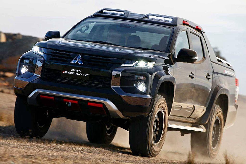 三菱汽車今年會把Triton Absolute概念車送往各車展亮相,若反應熱絡原廠就考慮對外量產販售。 圖/Mitsubishi提供
