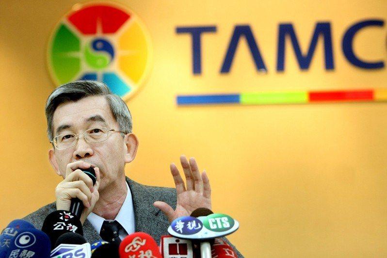 圖為2010年3月,台灣金聯時任發言人陳宗森指出,外傳董事長陳松柱領2,000萬...